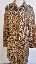 D&G Dolce & Gabbana Coat Animal Print Lined Snap Button Size M 32/46