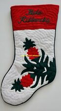 Hawaiian Quilt CHRISTMAS STOCKING Hand Quilted/hand Appliquéd pineapple