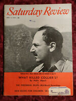 SATURDAY REVIEW May 11 1957 NATHANIEL WEST COLLIERS THOMAS B SHERMAN ELMO ROPER