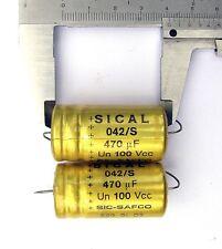 4 pcs Sic Safco 470uF 100V Sical 042 105°electrolytic axial capacitor Naim Audio