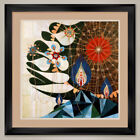"""35W""""x35H"""": PARMOTREMA by REX RAY - PSYCHEDELIC FORMS DOUBLE MATTE, GLASS & FRAME"""