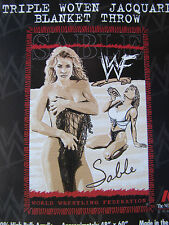 """Sable - WWF blanket throw - 48"""" x 60"""" -Sexy pics - wrestling -new in package"""