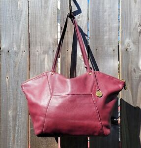 LARGE HOBO INTERNATIONAL MAROON LEATHER CARRYALL SHOULDER BAG w/DUSTCOVER