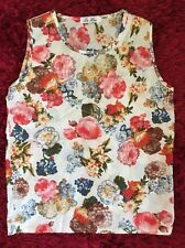 DA HAN Ladies Gorgeous Floral Print Sleeveless Top Blouse (Size Small 6-8)