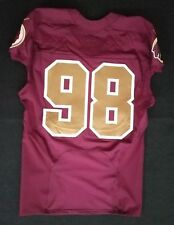 #98 No Name of Washington Redskins Alternate Nike Game Issued Jersey
