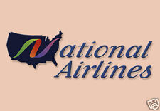 "National Airlines Logo Fridge Magnet 3.25""x2.25"" Collectibles (LM14031)"