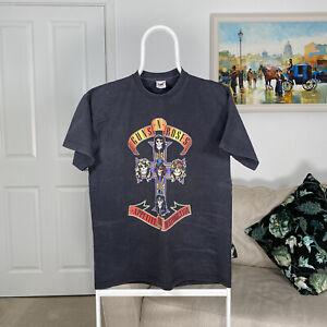 Men Vintage GUNS N ROSES APPETITE FOR DESTRUCTION Rock Band T-Shirt Black Medium