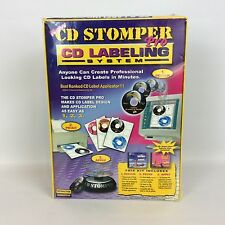 CD Stomper Pro CD Labeling System Kit Software Labels Applicator New & Sealed