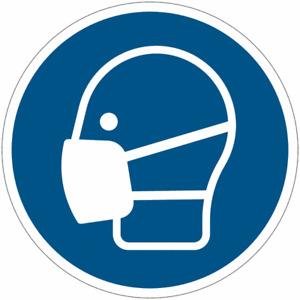 """Cartelli di obbligo ISO 7010 """"Maschera obbligatoria"""" M016"""