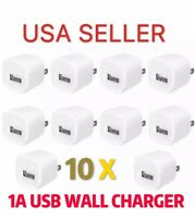 LOT of 10 x 1A USB Wall Charger AC Power Adapter US Outlet FOR iPhone 3 4 5 6 7