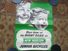 VINTAGE BSA New Hudson Junior Bicycles Cycle Cycling Advertising Poster c1950s
