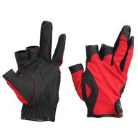 Waterproof 3 Cut Finger Anti-slip Fishing Glove 3 Fingerless Cycling Sport Glove