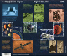 Belgium 2019 MNH In Space Planets Satellites 5v M/S Astronomy Stamps