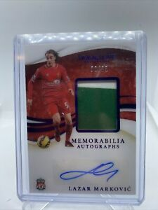 Panini Immaculate Soccer 2020 - Lazar Markovic Patch Auto /25 Liverpool