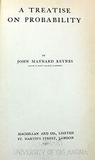A Treatise on Probability JOHN MAYNARD KEYNES 1921 ECONOMICS Macmillan