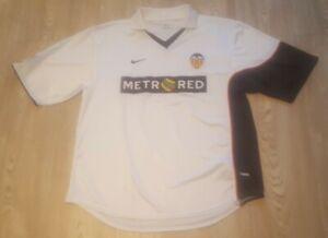 Valencia 2001 - 2002 Home Shirt Nike Men's Large SPAIN Excellent Condition