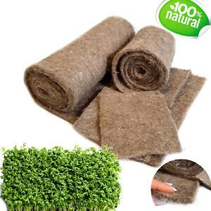 100% Flax Fibre Growing Medium Mat Pad for Microgreens Shorts Rotation Crops