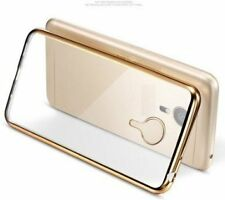 Luxury Side Gold Plated Soft Transparent Back Cover Case For Lenovo ZUK Z1