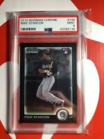 Giancarlo Mike Stanton 2010 Bowman Chrome #198 PSA 9 Mint