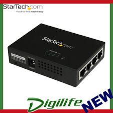 StarTech 4-Port Gigabit Midspan - PoE+ Injector - 802.3at/af POEINJ4G