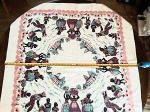 Black Americana Tablecloth Vintage