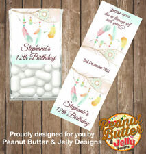 Personalised Dreamcatcher Birthday Tic Tac Favour Gloss Stickers 14 labels
