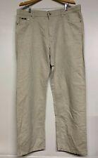 HUGO BOSS ALABAMA Men's Straight Classic Fit Trousers Pants Beige W42 L34 42x34