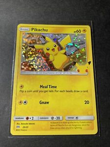 Pikachu Holo 25/25- 2021 Pokemon 25th Anniversary McDonalds Promo