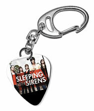 More details for sleeping with sirens guitar plectrum keychain - f 1