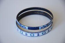 MICHAELA FREY WILLE BANGLE floral VINTAGE bracelet ENAMEL