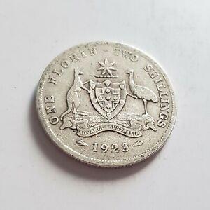 Australian Florin 1923 better Grade! #0183