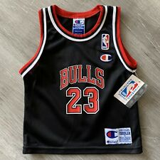 Michael Jordan Toddler 3T Champion Chicago Bulls Jersey Rare Last Dance New