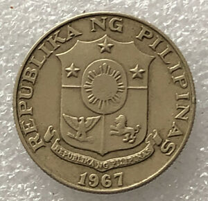 PHILIPPINES 1967 50 SENTIMOS VERY NICE COIN BE