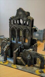 LOTR. Diorama: Cathedral Osgiliath. Ruins. Scenery. Terrain. Painted