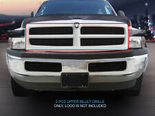 Fits 94-01 Dodge Ram Pickup Truck Black Billet Grille Grill Insert Fedar