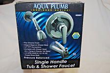Aqua Plumb Single-Handle Tub & Shower Polished Chrome Faucet Nib S7316