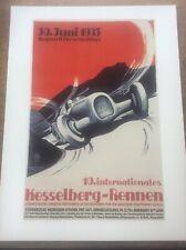 Art Deco Classic MotorSport Car Racing Automobile Poster 16x12 Kesselberg Rennen