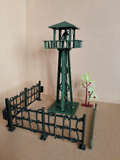 Military Watchtower Fence Tree Playset Toy Soldier Army Men Accessories