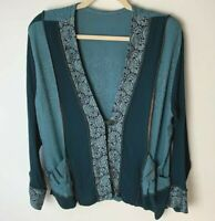 Spencer Alexis VINTAGE Women's Jacket Top Size 8 Button Closure Greens Pockets
