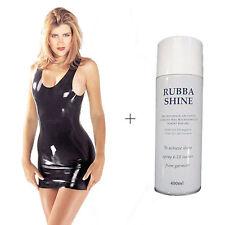 Sharon Sloane Latex Mini Dress Black Medium Women Ladies Lingerie 100 Discreet