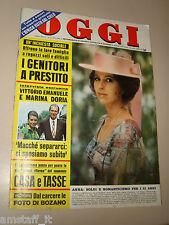 OGGI=1971/34=MADDALENA DE PADOVA=CALCINATELLO=SHIRLEY BASSEY=MARCELLO FIASCONARO