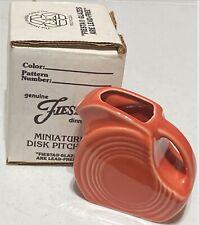 Fiesta Persimmon Mini Disk Pitcher(DISCONTINUED)