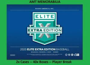 ALL PANINI REWARDS POINTS 2020 Panini Elite Extra Edition 2X CASE 40X BREAK #6
