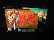 THE LEGEND OF ZELDA - A Link To The Past CIB Complete In Box SNES Super Nintendo