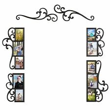 6-Piece Over-Door/Mirror Scroll Photo Frame Collage Set Wall Art Home Decor
