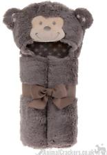 Fluffy Monkey Bathrobe baby children Chimp lover Christening Gift Soft n Cute