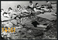 Vintage Photograph, sexy girls and boys sunbathing, beach, swimsuit 1960's Hunga