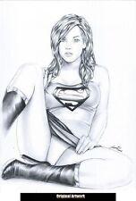 DC Comics Sexy KARA SUPERGIRL Original Art Superman CW CBS TV PANTIES SLUT BOOTS
