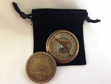 Mery Rose Solid Brass Nautical Marine Sundial Magnetic Compass with Lid