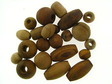 Vintage Genuine Untreated Wood Oval & Round Mix Organic Bead Lot Collection